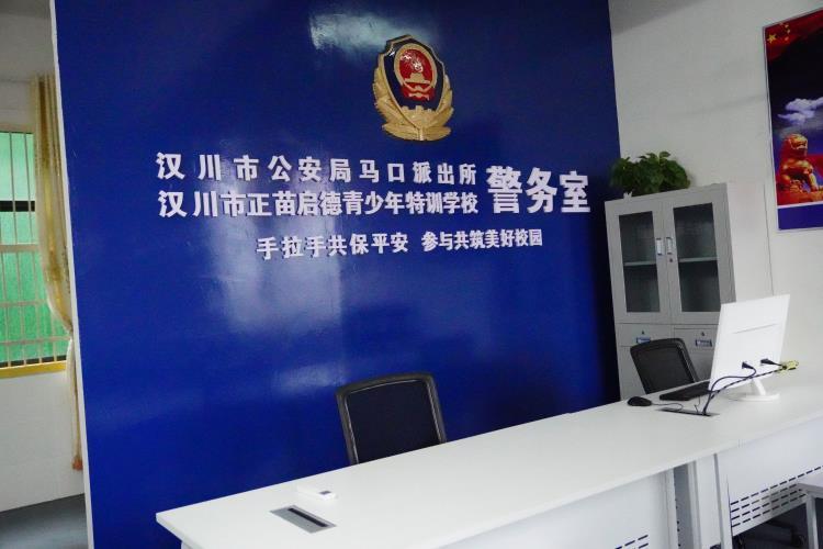 汉川市公安局马口镇派出所驻我校警务室正式启用